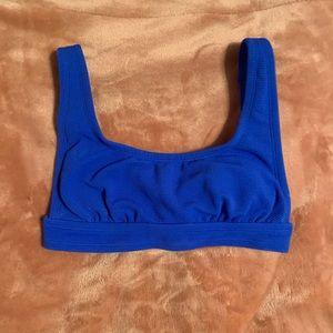 Blue Target Bikini Top